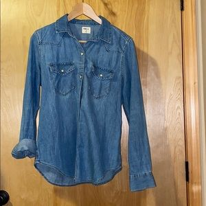Gap snap button up, size m